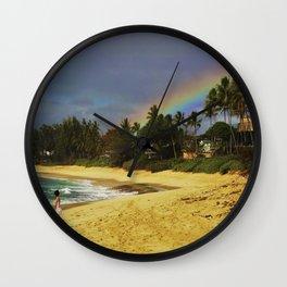 Pipeline Rainbow / Hawaii / Oahu Wall Clock
