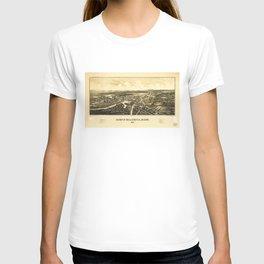 Aerial View of North Billerica, Massachusetts (1887) T-shirt