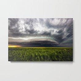 Sublette Splendor - Supercell Thunderstorm Over Wheat Field in Kansas Metal Print