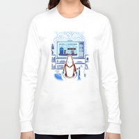 8bit Long Sleeve T-shirts featuring 8bit Who by Bamboota