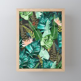 Tropical Dark Framed Mini Art Print