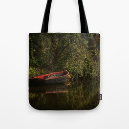 Dinghy On The Oxford Canal Tote Bag