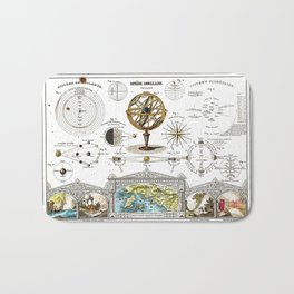Sphere Armillaire - Astronomical and Cosmographical Chart Bath Mat