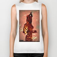 devil Biker Tanks featuring Devil by Eve Divyn