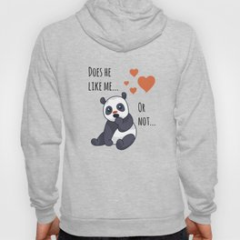 Cute panda thinking Hoody