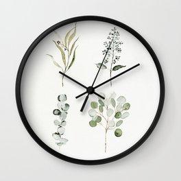 Eucalyptus Branches Wall Clock