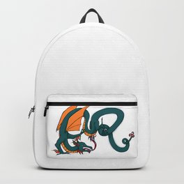 ER Celt Dragon Dark Green, Orange Wings Backpack