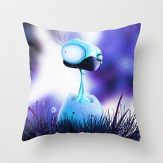 MONSTER CHICK Throw Pillow