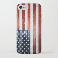 american flag iPhone & iPod Cases featuring American flag by Nicklas Gustafsson