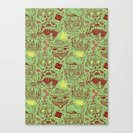 Have a Hipster Christmas! Canvas Print