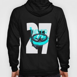Scuba Diving 27th Birthday Diver 27 Years Gift Hoody