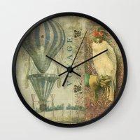 voyage Wall Clocks featuring Voyage by Aimee Stewart