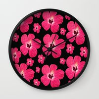 hibiscus Wall Clocks featuring Hibiscus   by maggs326