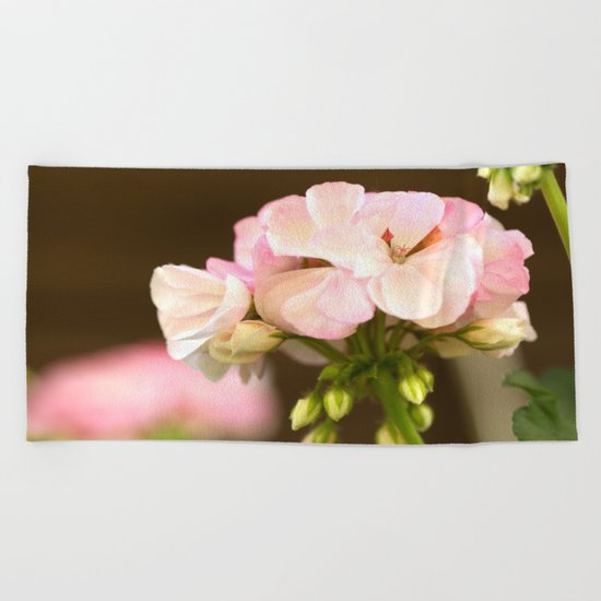 Soft Pink Petals Beach Towel