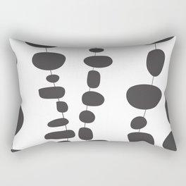 Minimalist Black And White Art Work Rectangular Pillow