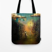 lucy Tote Bags featuring Lucy by Joel Pritchard
