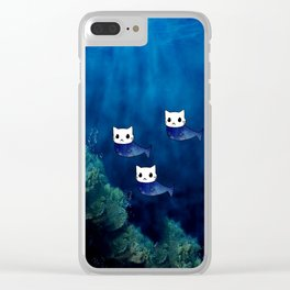 Cats Mermaid 60 Clear iPhone Case
