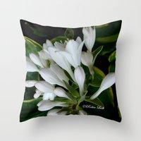dancing Throw Pillows featuring Dancing by Robin Lusk