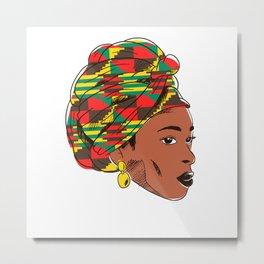 Black Queen African American Metal Print
