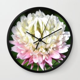 Flower | Flowers | One Clover Flower | Nature Photography | Nadia Bonello Wall Clock