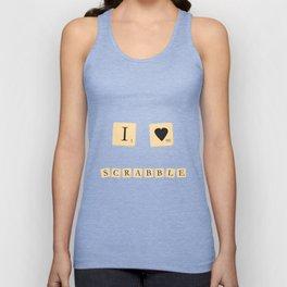I heart Scrabble Unisex Tank Top