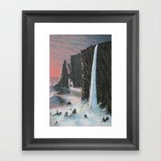 edge of the sea Framed Art Print