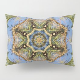 White Pine Branch Mandala Pillow Sham