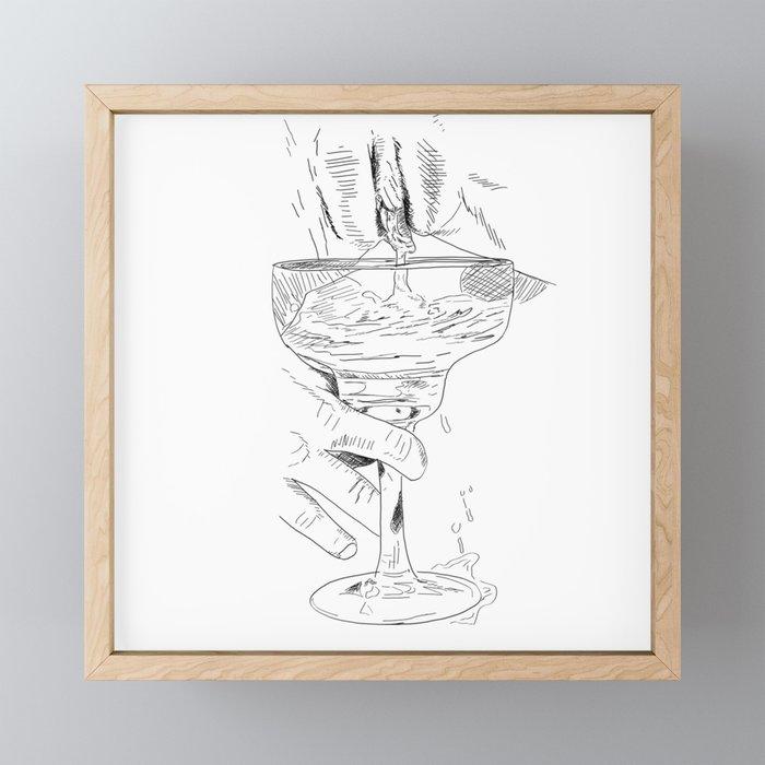 pussy margarita Framed Mini Art Print