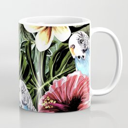 Tropical bird with floral texture Coffee Mug