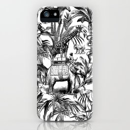Africa Meets India Black And White iPhone Case