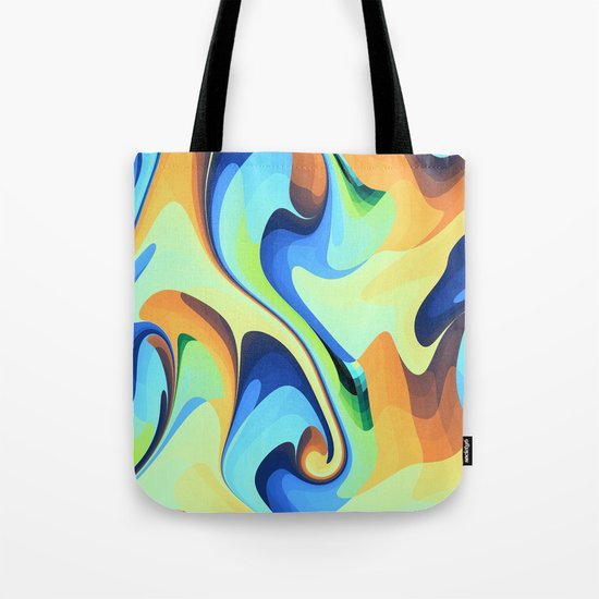 Color waves Water and Sun Tote Bag
