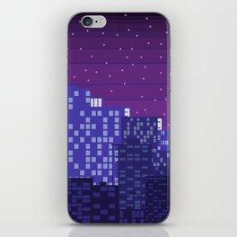 Purple Pixel City iPhone Skin