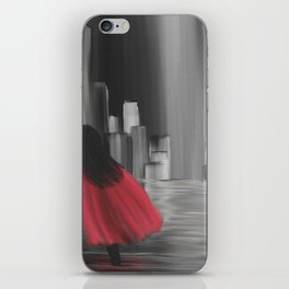 Girl With A Red Cape iPhone Skin