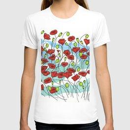 Field Poppies T-shirt