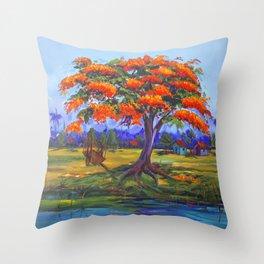 Flamboyan Throw Pillow