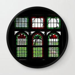 Room with Stained Glass Windows, Qavam House, Shiraz, Persia, Iran Wall Clock