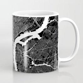 Philadelphia Black And White Map Coffee Mug