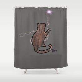 Meowgic Shower Curtain