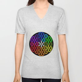 Secret flower of life Unisex V-Neck