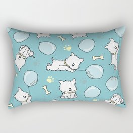 Hungry Westie Puppy Rectangular Pillow
