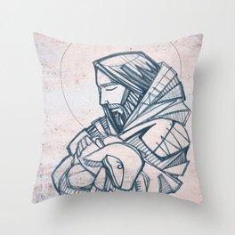 Jesus Christ Good Shepherd Throw Pillow