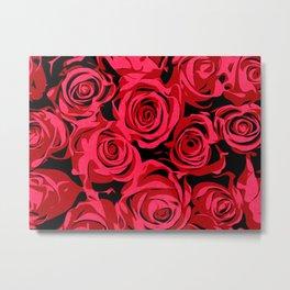 Red Roses | Floral Art Metal Print