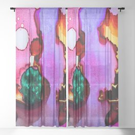 abstract modern background texture Sheer Curtain