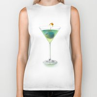 cocktail Biker Tanks featuring Cocktail by Etienne Chaize