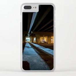 Milwaukee Freeway Bridge at Night Clear iPhone Case