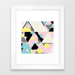 triangle no.3 / with love Framed Art Print