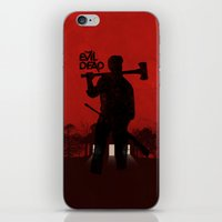 evil dead iPhone & iPod Skins featuring The Evil Dead by Bill Pyle