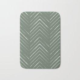 Olive Green Geometric Arrows Bath Mat