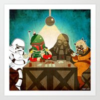 poker Art Prints featuring Poker by Matt Sinor