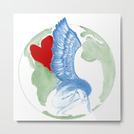 Earth Angel- Love Unearthed Metal Print